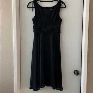 Black chiffon dress, petite 8